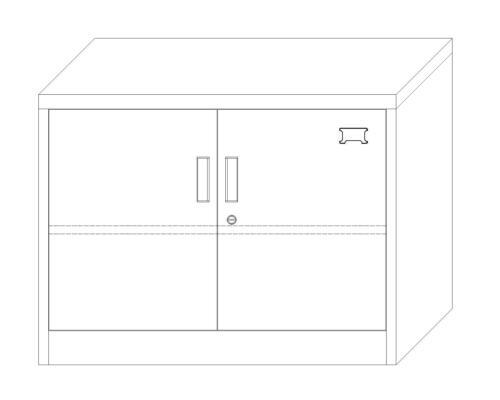 Stahlschrank Saratow rot-dunkelgrau Büro Lager Werkstatt Schrank Werkzeugschrank