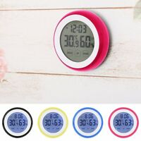 Indoor Digital LCD Temperature Humidity Meter Hygrometer Room Thermometer Clock