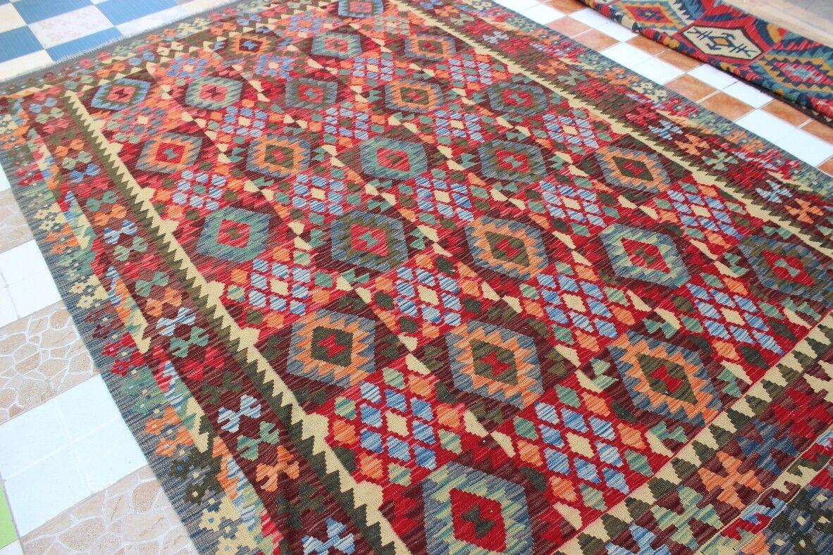 430894..Best Quality Hand Woven Lamb Wool Kilim..Größe ..293.x 199..CM