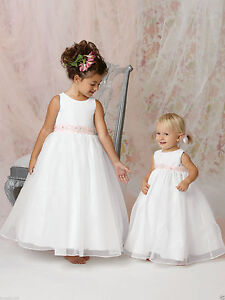 d14acd72e7 Image is loading Ivory-Lace-Tulle-Dresses-Flower-Girl-Dress-Girls-