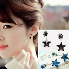 Double Star Crystal Rhinestone Stud Ear Cute Earring Korean Style Jewelry New