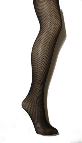 M//L Herringbone 15 Denier Black Tights S//M