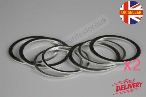 "2 x 1/"" BSP Aluminium Washers Solid Sealing Motorbike DIY Car Industrial"