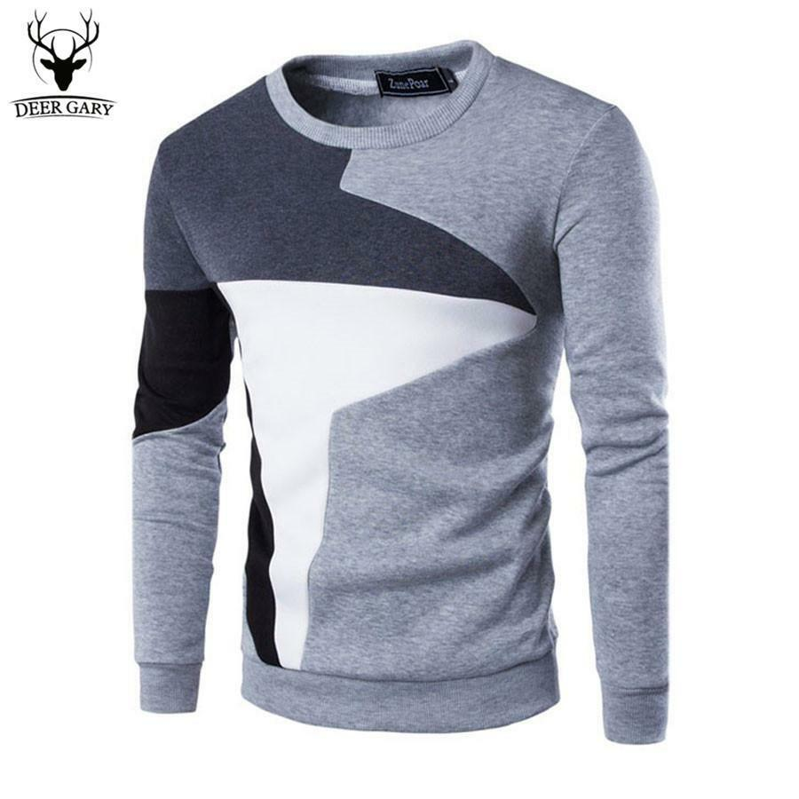Mens - Sweater Patchwork Causal Sportswear