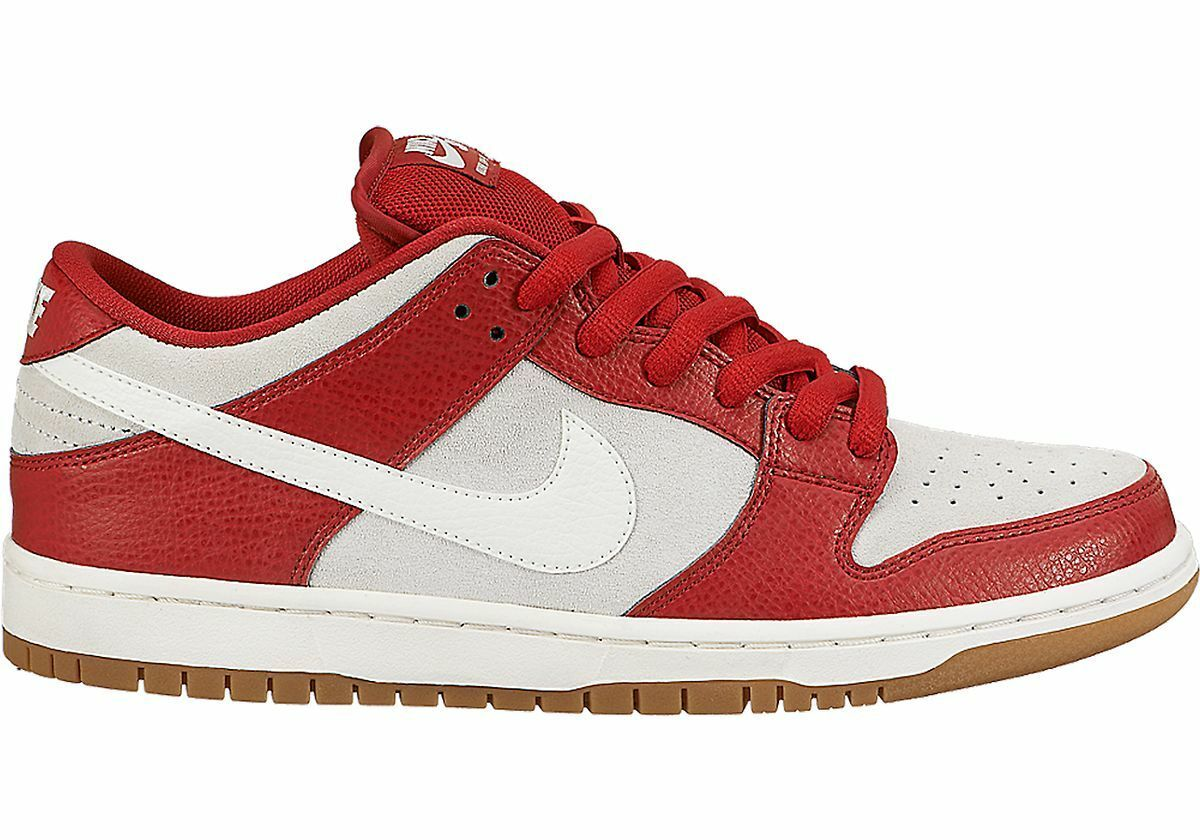 Nike DUNK LOW SB PRO SB LOW Gym Red Sail Gum Light Brown Discounted (500) Men's Shoes 2ee318