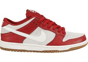 Nike DUNK LOW PRO SB Gym Red Sail Gum Light Brown Discounted (500) Men's Shoes