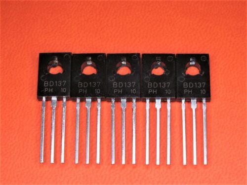 1,25 Watt 5 Stück BD 137 Leistungstransistor NPN 60V 1,5 A