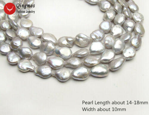 Big 12-13mm Black Coin Round Natural FW Pearl Loose Beads Strand 14/'/'-los725