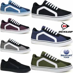 Mens-Dunlop-Lace-Up-Canvas-Shoes-Memory-Foam-Plimsoll-Pumps-Skates-Trainers-Size