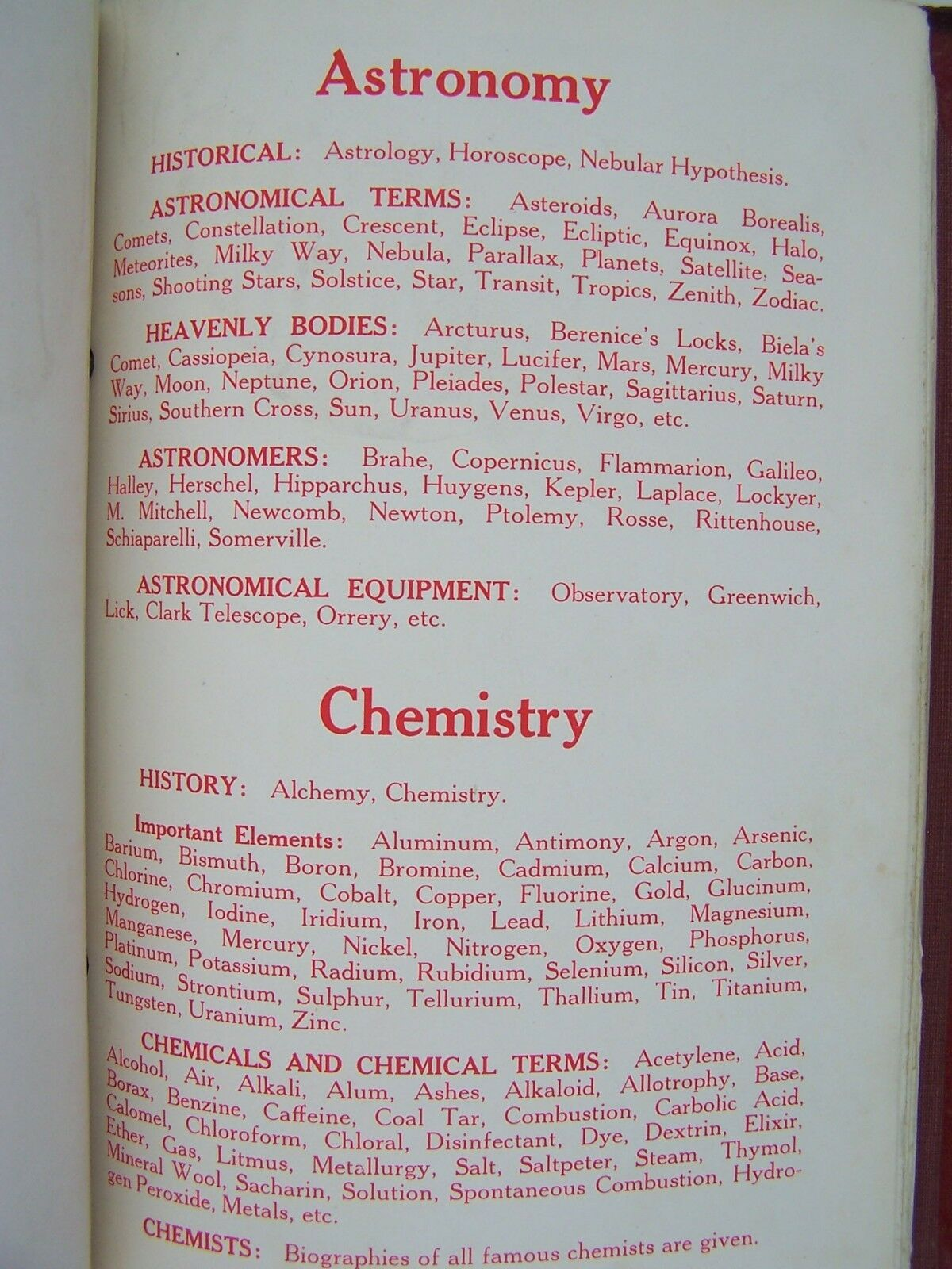 The Home and School Reference Work Voume I Leatherbound