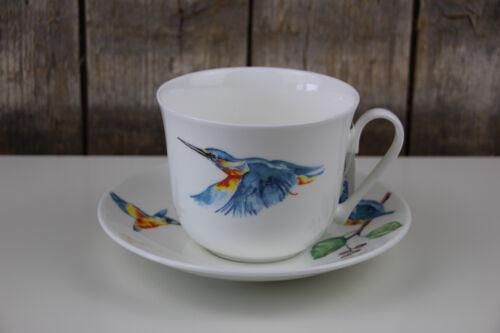 400 ml Roy Kirkham Jumbo Tasse mit Unterteller Kingfisher // Eisvogel