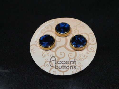 Bach Custom 24K Gold Trumpet Buttons by Noteworthy Music Products Blue Satin