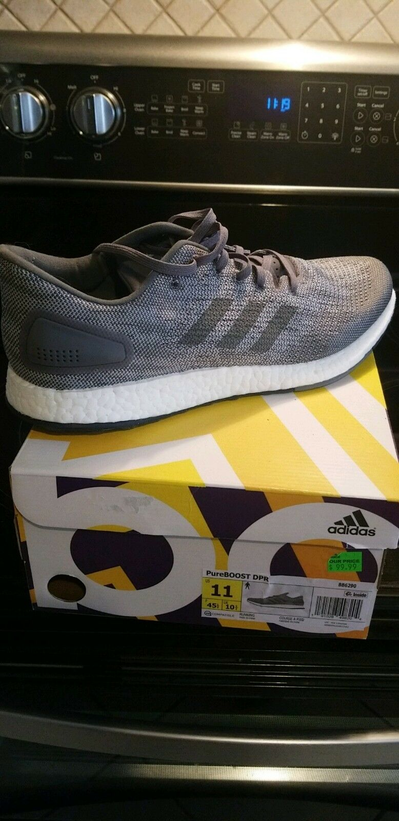 NWT NIB ADIDAS PUREBOOST DPR BB6290 MEN'S SZ 11 GREY WHITE