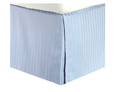 MARRIKAS 300TC Egyptian Cotton Bed Skirt KING SOLID BLUE