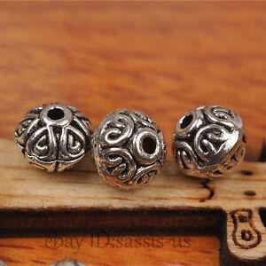 70pcs-7mm-Bicone-Tibetan-silver-Bead-Spacer-DIY-Jewery-Making-Fit-Bracelet-A7269