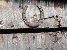 Cast Iron Horse Shoe Lucky above the barn door western cowboy stable horse decor