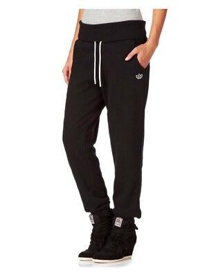 Adidas Originaux Femmes Plié Taille Piste Pantalon Jogging Noir BNWT G84733   eBay
