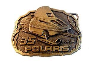 083abdf2cbe6c Vintage Polaris Ski Mobile 35 Years 1954 - 1989 Belt Buckle | eBay