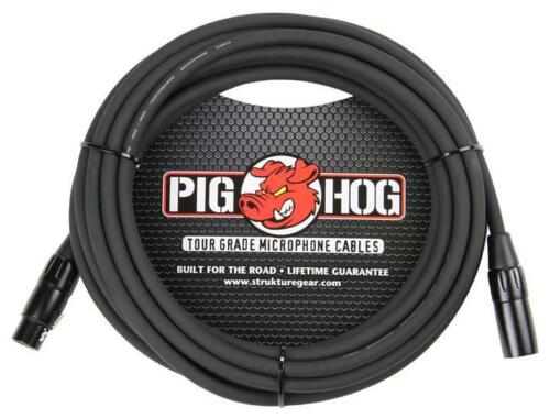 NEW 2 Pack Pig Hog PHM25 XLR High Performance 8mm Microphone Cable 25 Ft