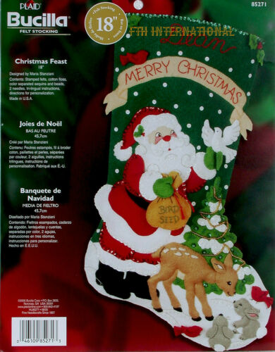 """Santa Bucilla Navidad Fiesta ~ 18 /""""De Fieltro De Navidad Kit De Siembra # 85271 Ciervos"""