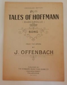 Barcarolle The Opera And I >> Sheet Music Barcarolle From The Opera Tales Of Hoffman C 1911 Ebay