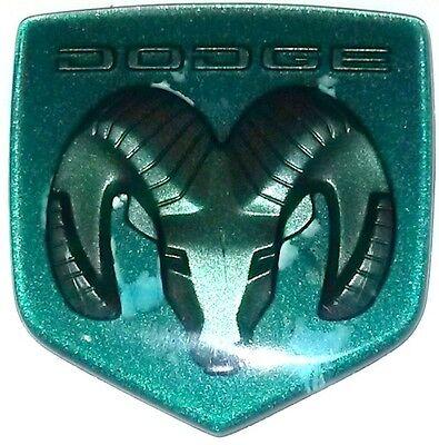 Dodge Neon Caravan Intrepid- Hood Emblem Ornament Badge Logo, GREEN