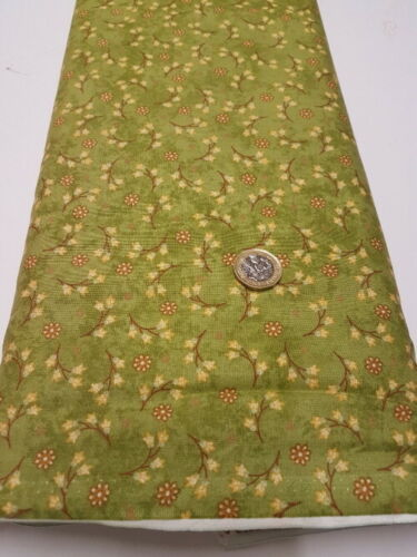 Fat Quarter vert floral tissu de coton