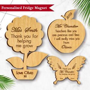 Home, Furniture & DIY Personalised Teacher Gift Thank You Magnet  School Nursery School Wooden Apple