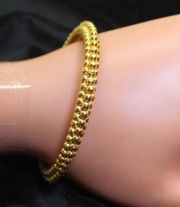 22K-GOLD-ESTATE-UNIQUE-BEADED-BANGLE-BRACELET-17-1-GRAMS-FINE-22-KARAT-GOLD