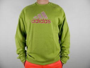 Das Bild wird geladen Adidas-Ess-Logo-Sweat-Herren-Sweatshirt-Pullover-Gruen - ce86af8943