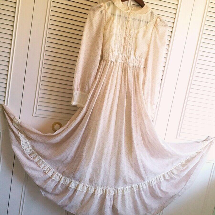 ASIS RARE vintage GUNNE SAX floral  Prairie dress… - image 3