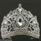 Bridal Rhinestone Queen dangle Crown forehead Maang tikka Headpiece HR377