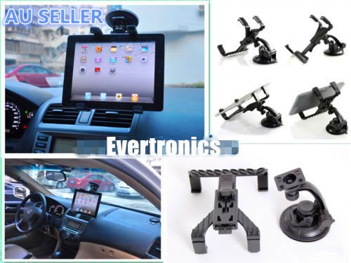 Car Stand Holder Cradle Windscreen Glass Mount for iPad Air 2 3 4 Samsung Tablet