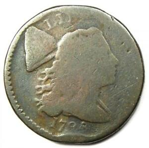 1794 Liberty Cap Large Cent 1C Coin - Rare Early Coin!