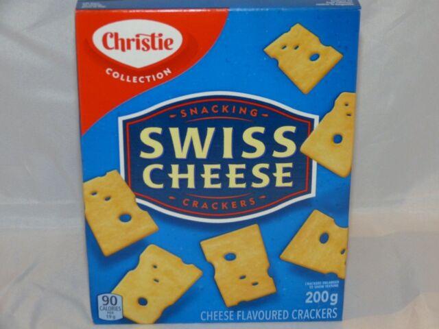 CHRISTIE Kraft Swiss Cheese Crackers New 200 grams