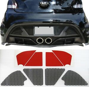 Details About Perf Ss Rear Bumper Mesh W Sensor Cutout For A 2012 17 Hyundai Veloster Turbo