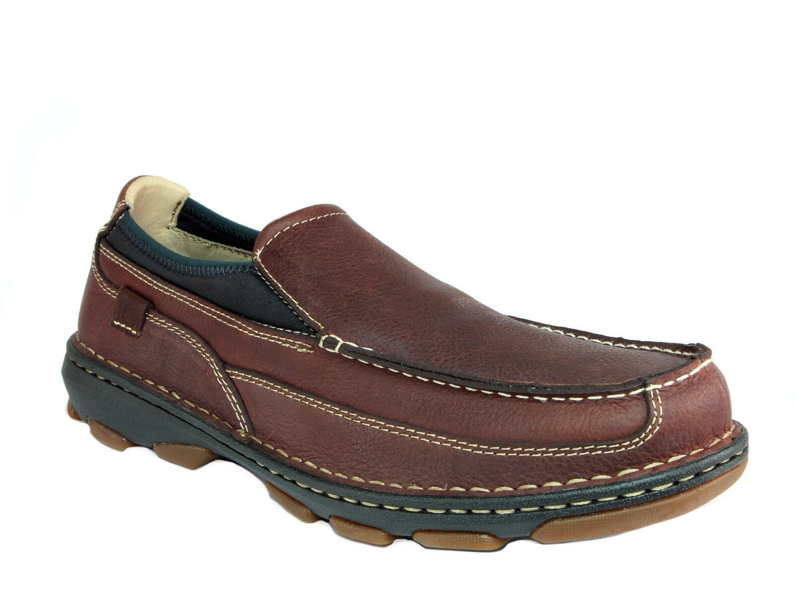 Rocky CRUISER Loafer Mens Work Casual Brown Leather Shoes