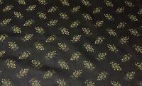 Waverly Sayan Onyx Black Gold Pine Cone Cushion Fabric By The Yard 54 Wide