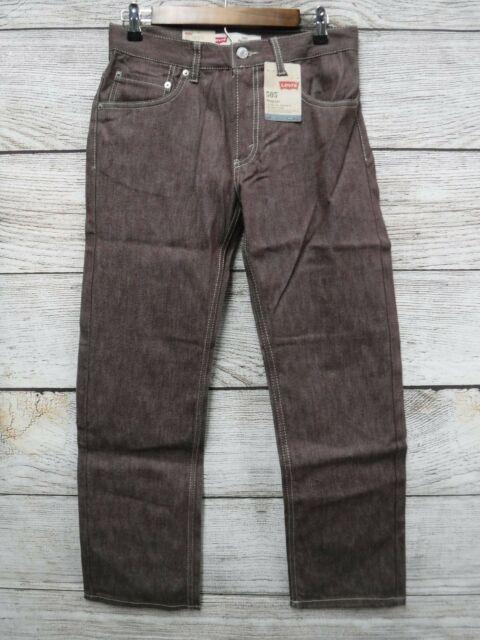 Levi's 505 Boys 16 (28x28) Burnt Natural Fill Regular Fit Straight Leg Jeans