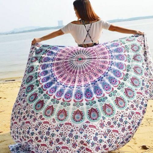 Twin Indian Mandala Tapestry Hippie Bohemian Wall Hanging Bedding Beach Throw