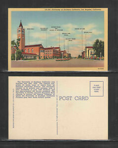 1950s-UNIVERSITY-OF-SOUTHERN-CALIFORNIA-LOS-ANGELES-CALIFORNIA-POSTCARD