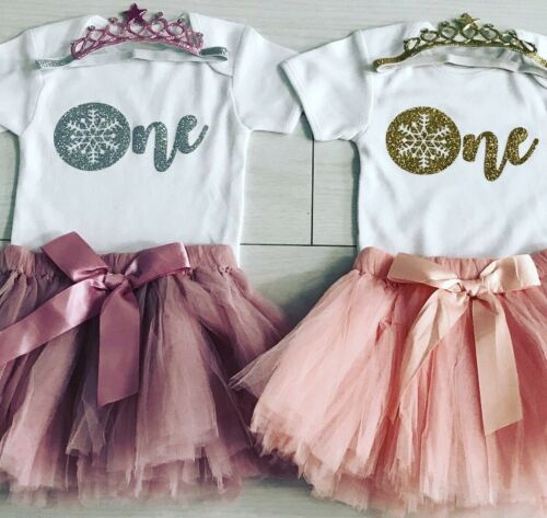 Girls Christmas 1st First Birthday Outfit Tutu Skirt Cake Smash Set Blush Tiara