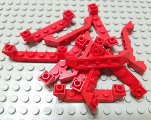 LEGO Lot of 12 Red 6x1 Double Inverted Cockpit Slope Pieces