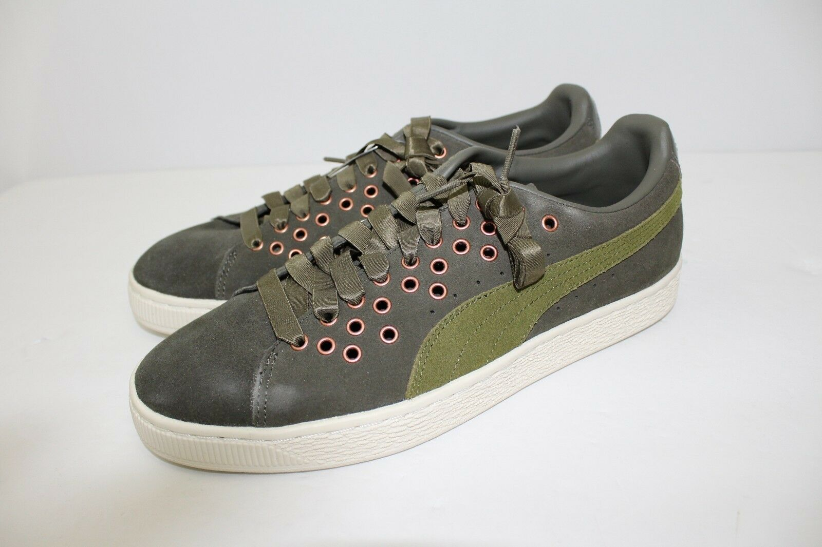Puma Suede Xl Lace VR Sneakers - Olive - Women's Size 9.5