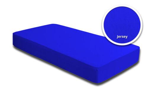 200x220 cm Jersey 2 Spannbettlaken Boxspring Wasserbett royal blau 180x200 cm