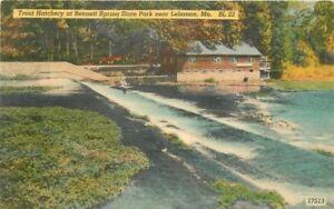 Bennett-Springs-Blair-1940s-Lebanon-Missouri-Trout-Hatchery-12212-postcard