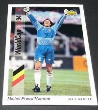 PREUD'HOMME BELGIË BELGIQUE DIABLES FOOTBALL CARD UPPER USA 94 PANINI 1994 WM94