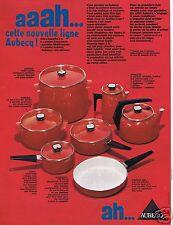 Publicité Advertising 066 1969 Aubecq batterie de cuisine