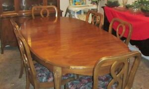 Prime Details About Vintage Duncan Phyfe Style Hardrock Maple Dining Room Table Chairs China Cabinet Home Interior And Landscaping Ologienasavecom