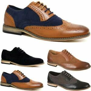 Work Lace Up Oxford Brogue Shoes Size